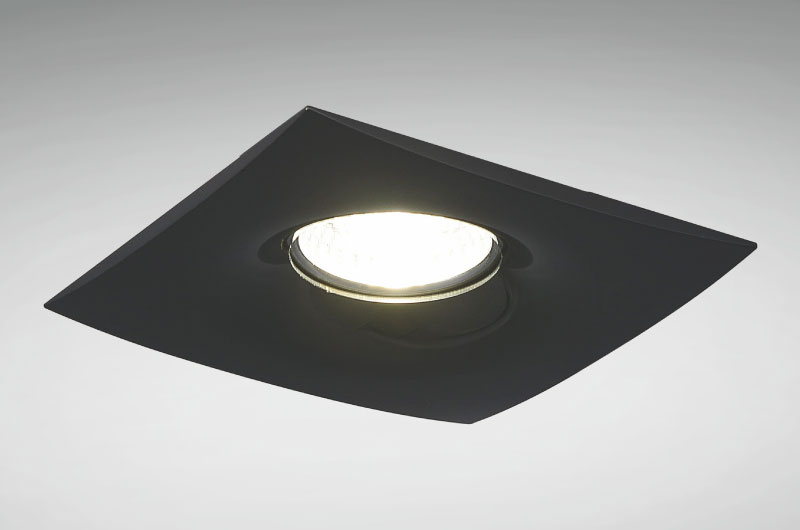 Black Square Recessed Light Fixture